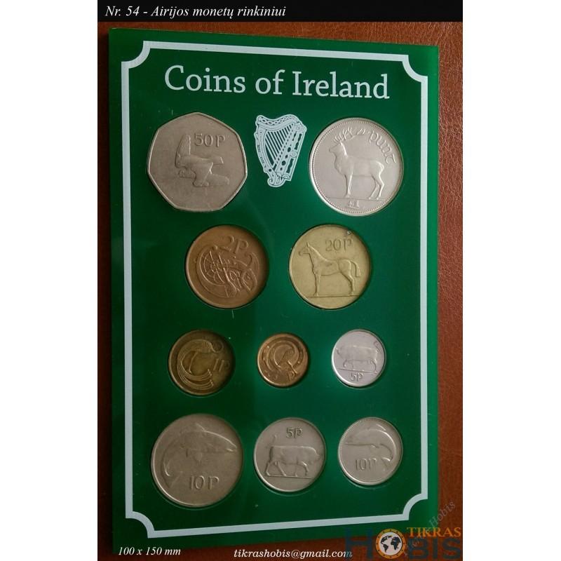Rėmelis Airijos monetoms Nr. 54