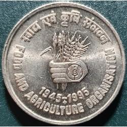 Indija 5 rupijos, 1995 FAO...