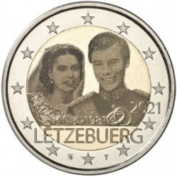 Luxembourg 2 euro, 2021...