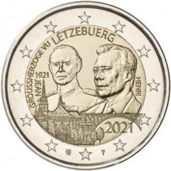 Liuksemburgas 2 eurai, 2021...