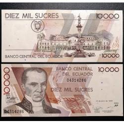 Ekvadoras 10 000 Sucres,...