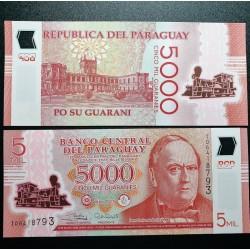 Paragvajus 5000 Guaranies,...