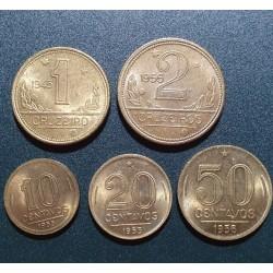 Brazilija 1945-1956, 5 vnt....