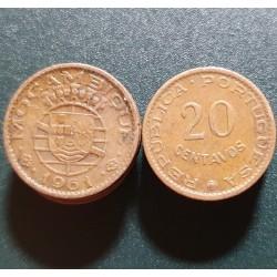Mozambikas 20 sentavų, 1961...