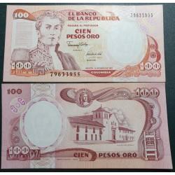 Kolumbija 100 pesų, 1991...