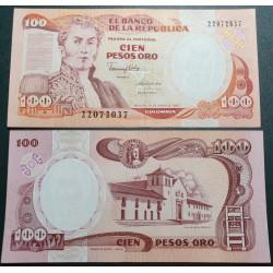 Kolumbija 100 pesų, 1990...