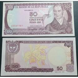 Kolumbija 50 pesų, 1986 P-425b