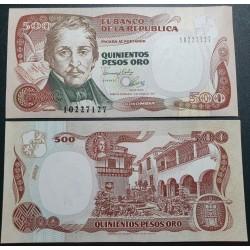 Kolumbija 500 pesų, 1993...