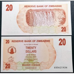 Zimbabvė 20 dolerių, 2006 P-40