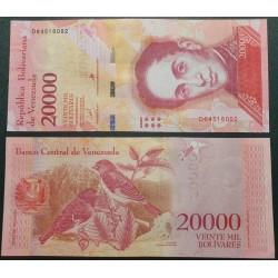 Venesuela 20 000 bolivarų,...