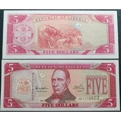 Liberija 5 Doleriai, 1999 P-21