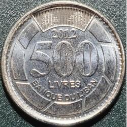 Libanas 500 svarų, 2012 KM39a