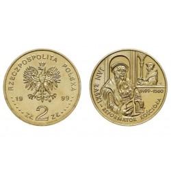 Lenkija 2 zlotai, 1999 Jan Lask