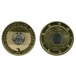 Lenkija 2 zlotai, 2000 Millennium