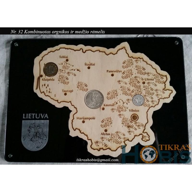 Rėmelis Lietuva kombinuotas Nr. 32 - su fanera