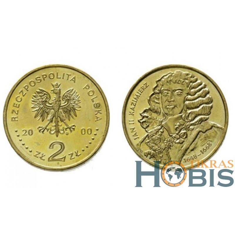 Lenkija 2 zlotai, 2000 John II Casimir Vasa