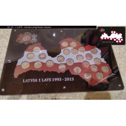 Frame for Latvian coins No. 33 - Commemorative Lats