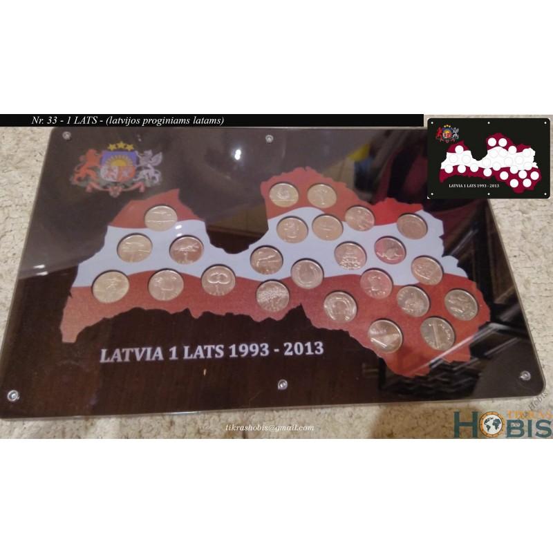 Rėmelis Latvijos monetoms Nr. 33 - Proginaims latams