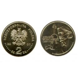 Lenkija 2 zlotai, 2001 XII Henry Wieniawski