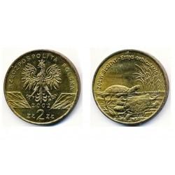 Lenkija 2 zlotai, 2002 Pond Turtle