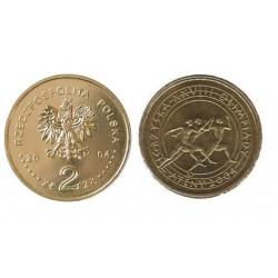 Lenkija 2 zlotai, 2004 Atėnai