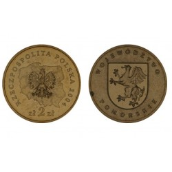 Lenkija 2 zlotai, 2004 Pomeranian Voivodeship