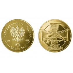Lenkija 2 zlotai, 2005 World War II
