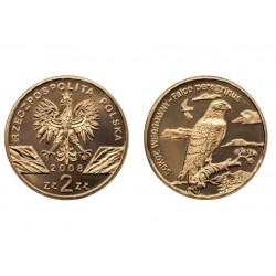 Lenkija 2 zlotai, 2008 Peregrine Falcon