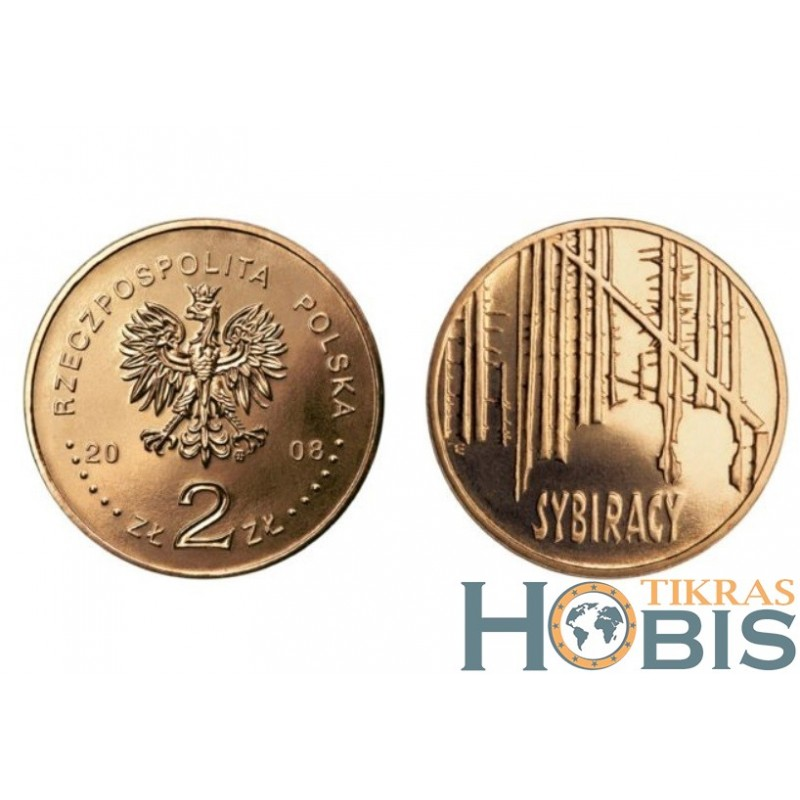 Lenkija 2 zlotai, 2008 Siberian Exiles