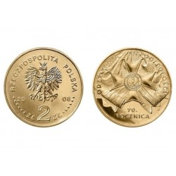 Lenkija 2 zlotai, 2008 Nepriklausomybės 90