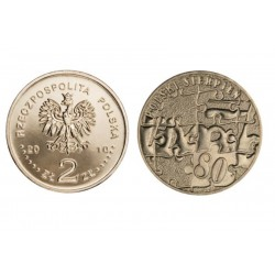 Lenkija 2 zlotai, 2010 August 1980