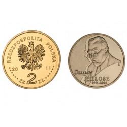 Lenkija 2 zlotai, 2011  Czeslaw Milosz