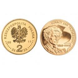 Lenkija 2 zlotai, 2011 Ignacy Jan Paderewski