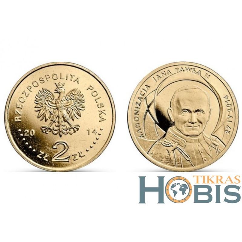 Lenkija 2 zlotai, 2014 John Paul II