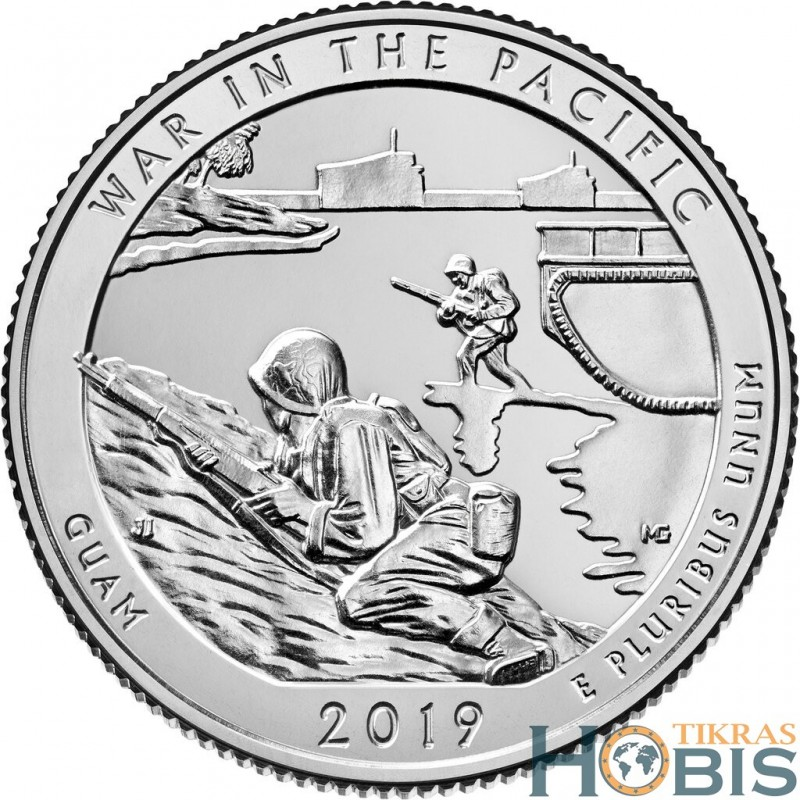 JAV 25 centai, 2019 War in the Pacific, Guam (D)
