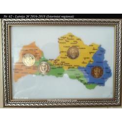 Frame for Latvian coins No...
