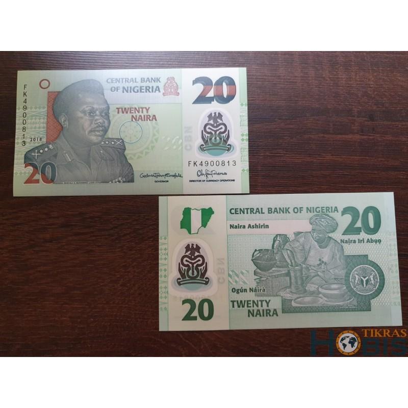 Nigerija 20 naira, 2018 P-34n