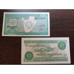 Burundis 10 frankų, 2003 P-33d.3