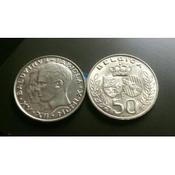 Belgija 50 frankų, 1960 Wedding Baudouin