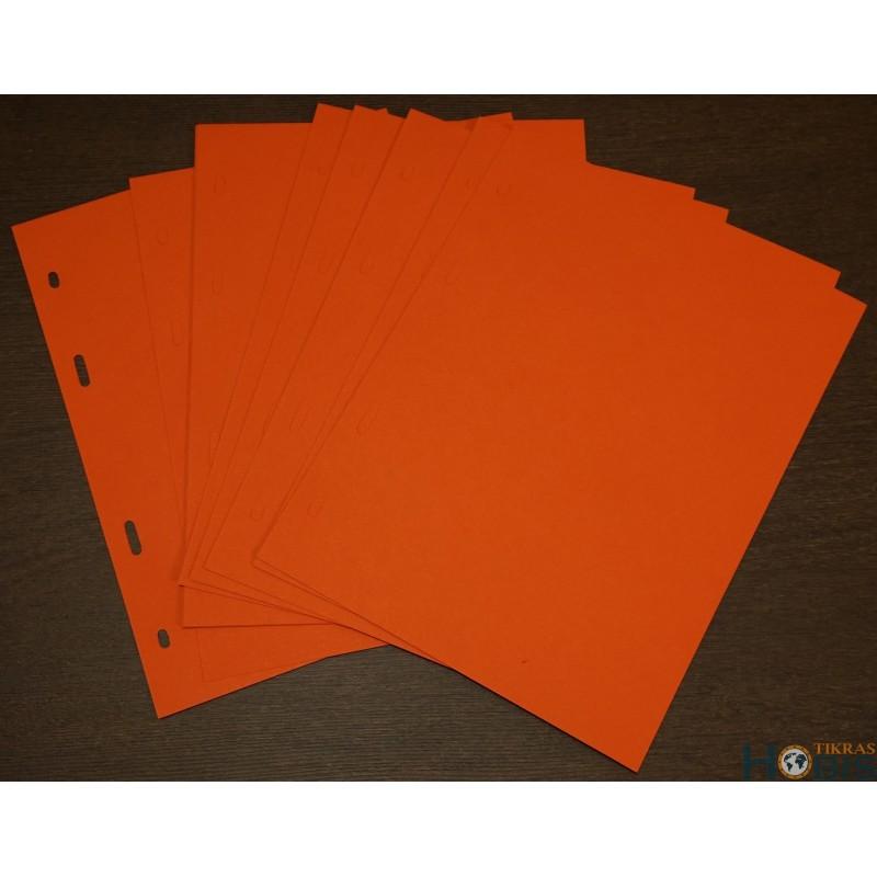 Tarplapiai A5 formato, raudoni