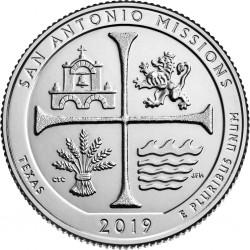 JAV 25 centai, 2019 San Antonio Missions, Texas (P)