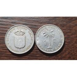 Belgian Congo 1 franc, 1957