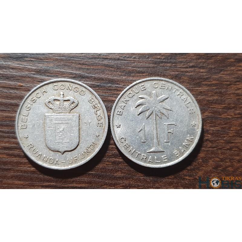 Belgijos Kongas 1 frankas, 1957