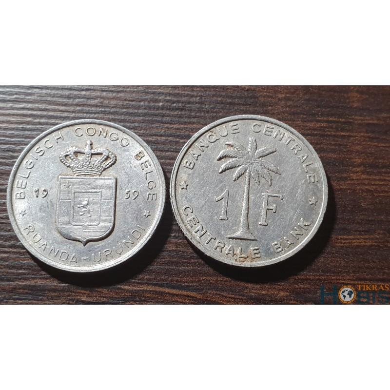 Belgijos Kongas 1 frankas, 1959
