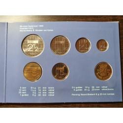 Nyderlandų guldenai ir centai 1990 metų - 6 vnt rinkinys