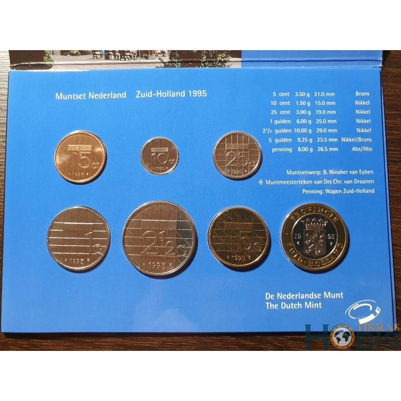 Nyderlandų guldenai ir centai 1995 metų - 6 vnt rinkinys