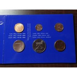 Nyderlandų guldenai ir centai 2000 metų - 6 vnt rinkinys