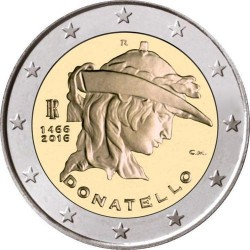 Italija 2 eurai, 2016 550th Donatello
