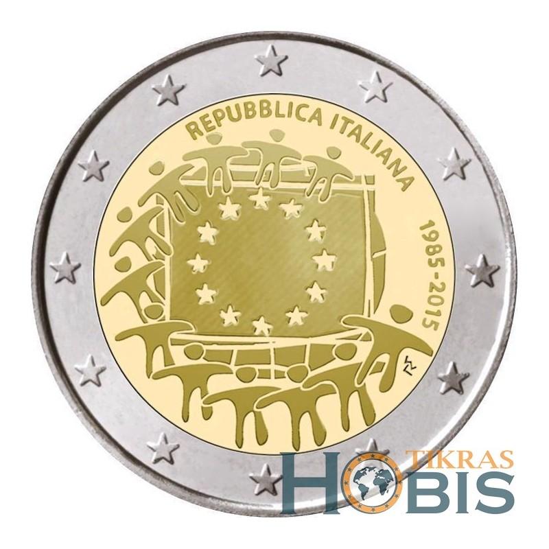 Italija 2 eurai, 2015 Europos Sąjungos vėliavos 30-metis