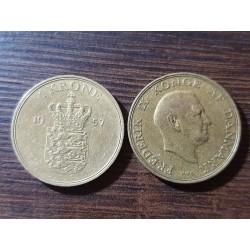 Danija 1 krona, 1957